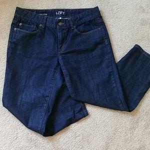 Ann Taylor Loft curvy crop denim jeans size 28/ 6